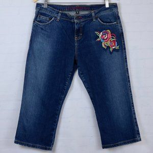 TOMMY Hilfiger Y2K  Embroidered Floral Crop Jeans